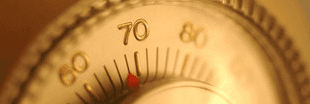 A gauge on a heating system