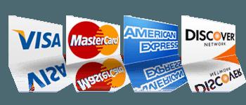 visa, mastercard, discover, american express accepted logo