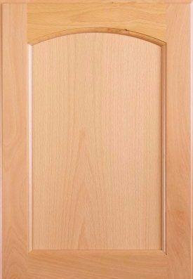 eyebrow arch flat panel cabinet door