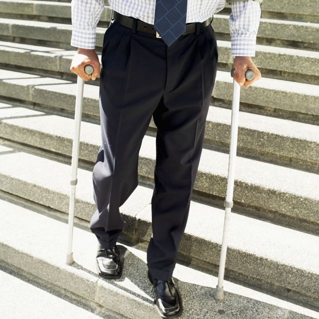 Man needing a personal injury lawyer