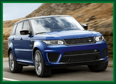 blue LAND ROVER