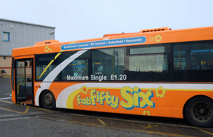 Vehicle branding on bus