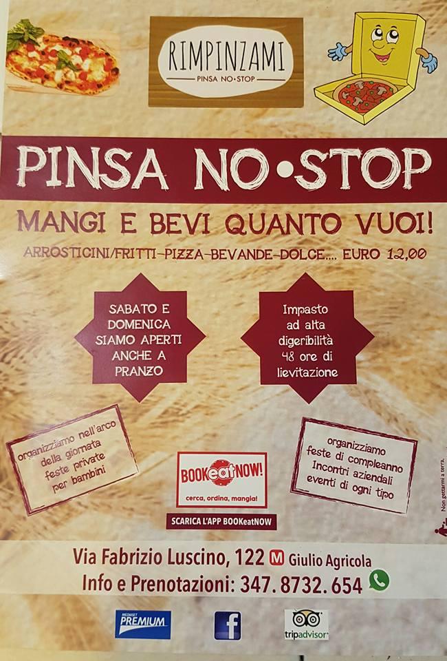 Pinsa no stop Rimpinzami