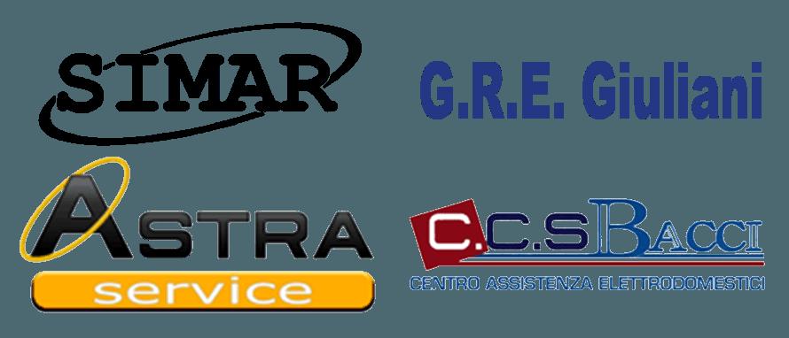 Loghi - Simar - G.R.E. Giuliani - Astra Service - C.C.S. Bacci