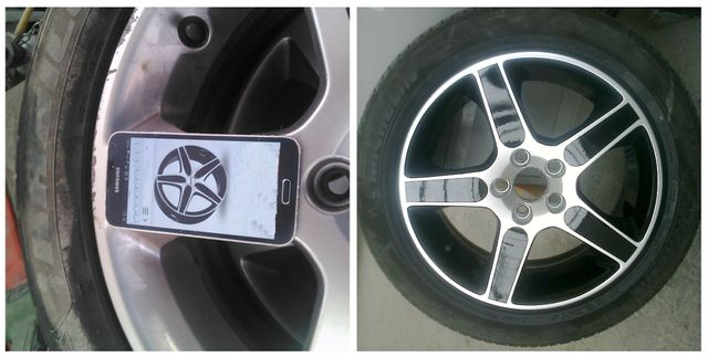 alloy wheel repaired