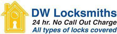 DW Locksmiths company logo