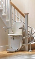 View of a stair lift chair