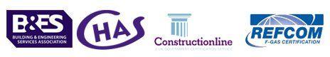 REFCOM CHAS constructionline logos