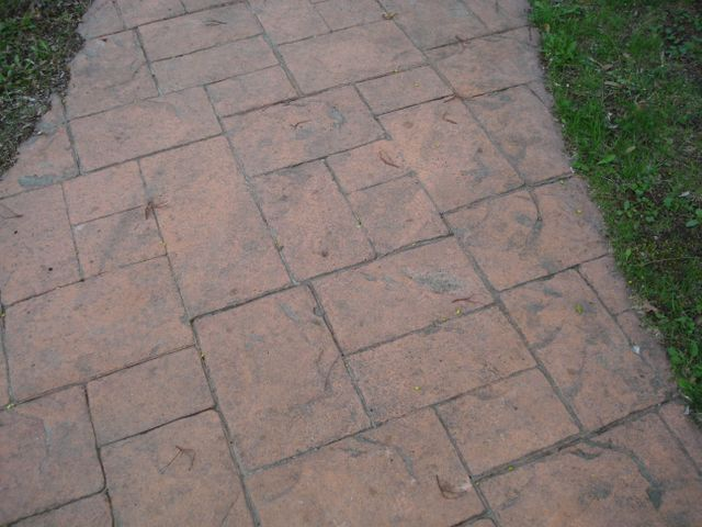 Stamped Concrete Entrancce in Olean, NY