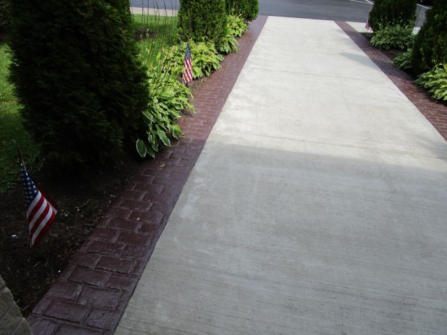 Stamped Concrete Walkway in  Bradford, PA