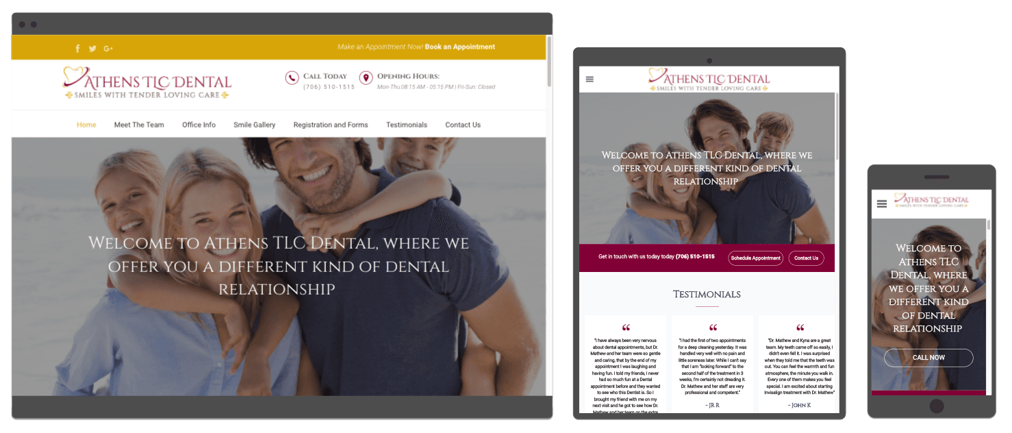websites for dentists