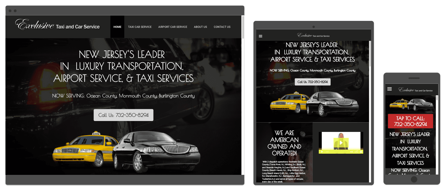 Car Service Website Design