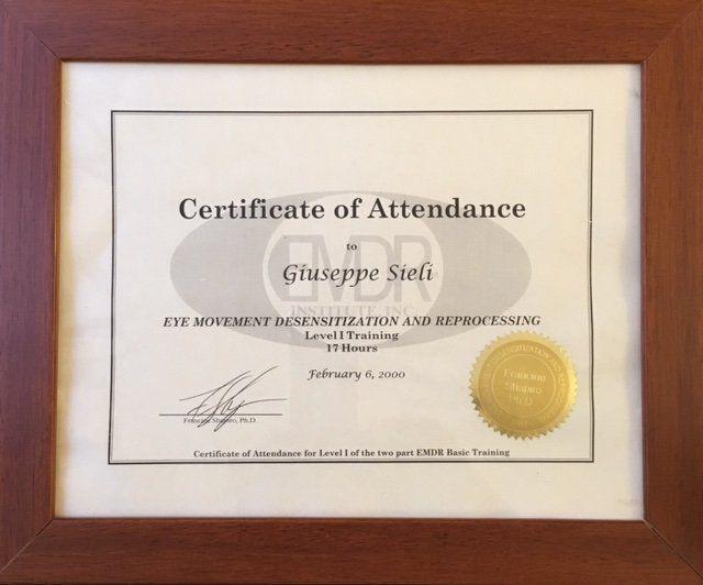 certificato di partecipazione