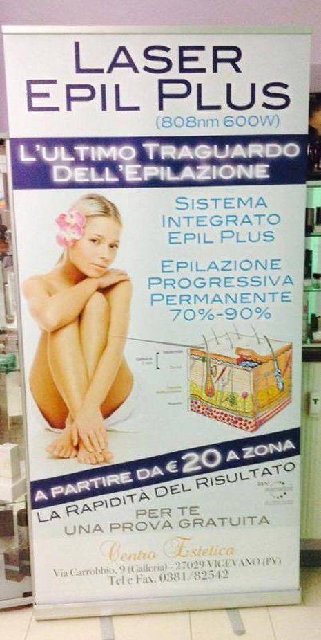 pubblicita laser epil plus