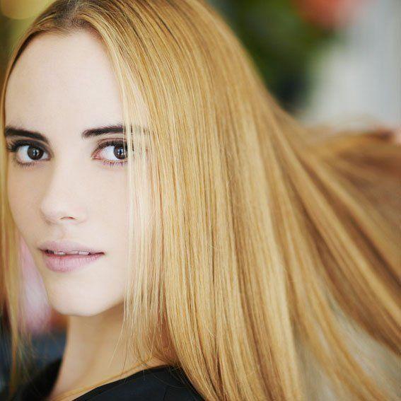 silky longer hair