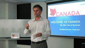 Canadian Business presentation in Nagoya