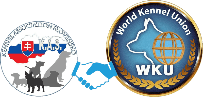 Kennel Association Slovensko - logo e World Kennel Union - logo