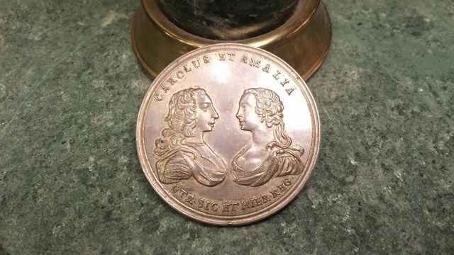 epoca di Carlo di Borbone Medaglia di argento anno 1751