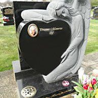beautifully designed memorial stone