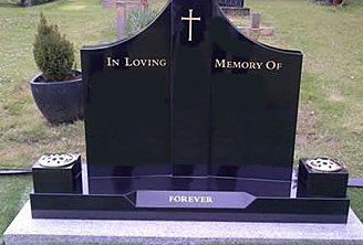 black coloured memorial stone