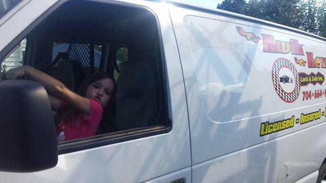 Woman is happy with the locksmith service in Mooresville, NC