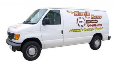 Van used by our locksmith in Huntersville, NC