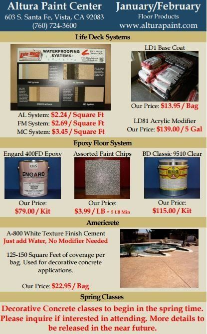 winter paint specials