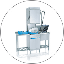 Meiko Hood Type Glass & Dishwashing Machine