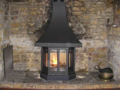 chimney installed over fireplace
