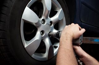 Installing new auto tires in London, KY