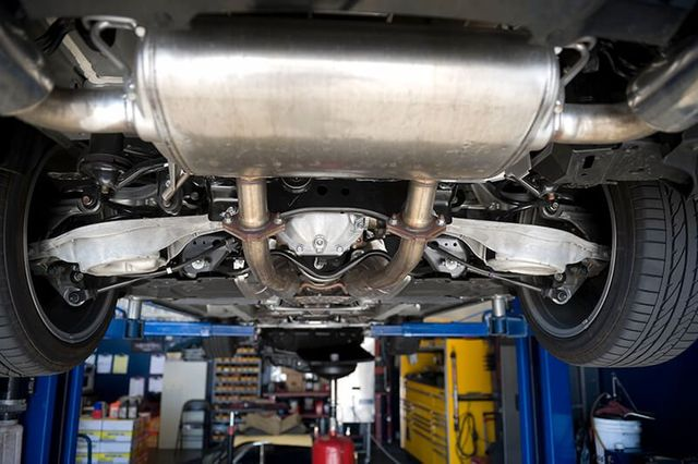Exhaust repairing done by the mechanic