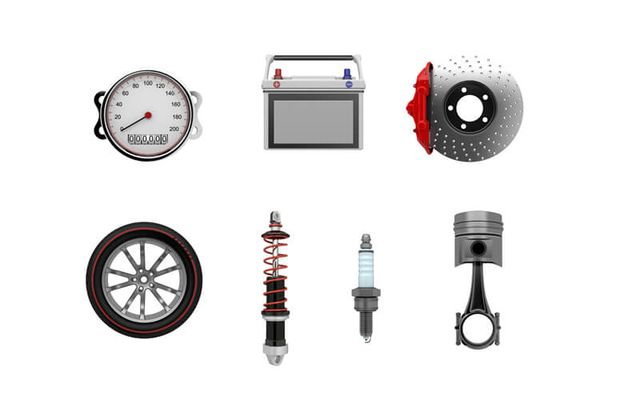 Gears of a car