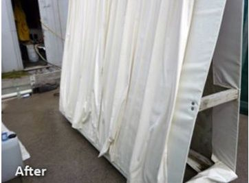 Curtains after professional mildew removal in Tauranga