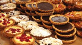 tortine al cioccolato, pasticceria secca, biscotti