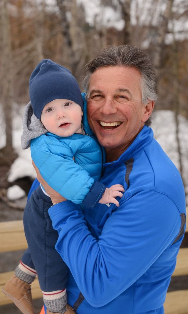 Peter Seligman with his grandson