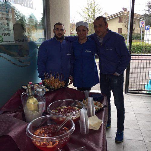 I proprietari dell'ingrosso surgelati Mister Frozen a Reggio Emilia