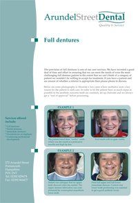PDF document about full dentures