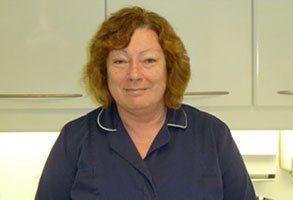 Trish Dyer, receptionist