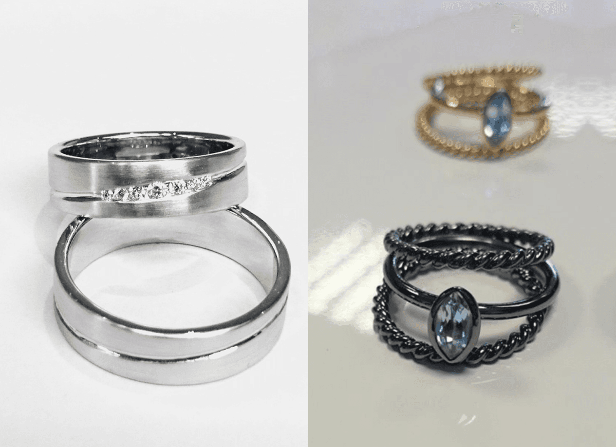 Attractive wedding rings
