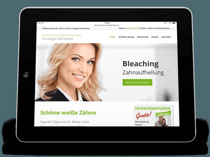 Bleaching, Veneers, weiße Füllungen und mehr: Zahnarztpraxis Dr. Rainer Lösch, Erlangen-Tennenlohe