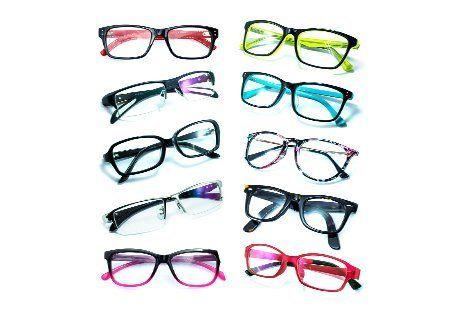 occhiali da vista con montatura colorata