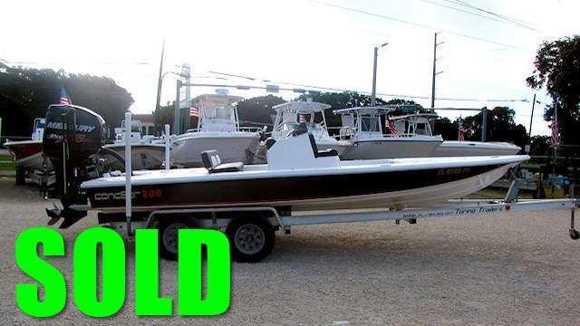 SOLD - 2014 20' Concept 200 Pocket Hull Flats Boat