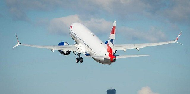 Comair 737 Max arrives in British Airways livery