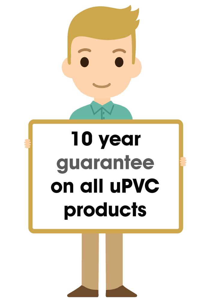 uPVC products guarantee