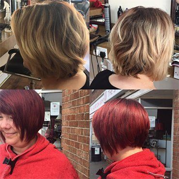Professional hair colouring services