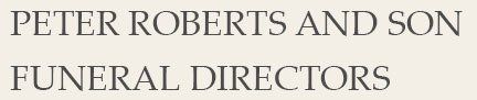 Peter Roberts and Son company logo
