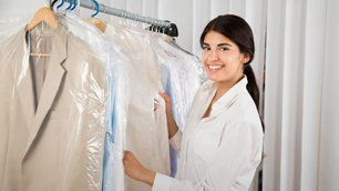 clothes after dry cleaning