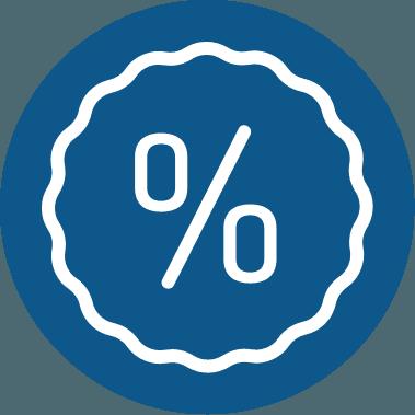icona percentuale