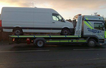 truck on towing vehicle
