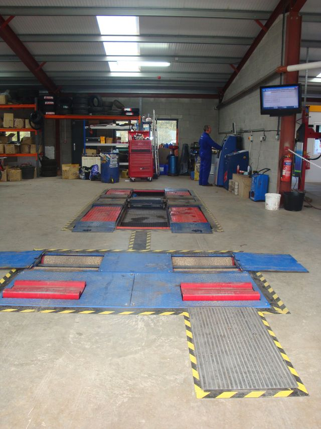 garage with equipment